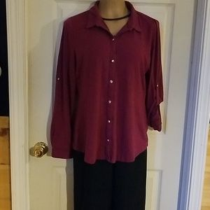 Tops - Long or 3/4 sleeve blouse